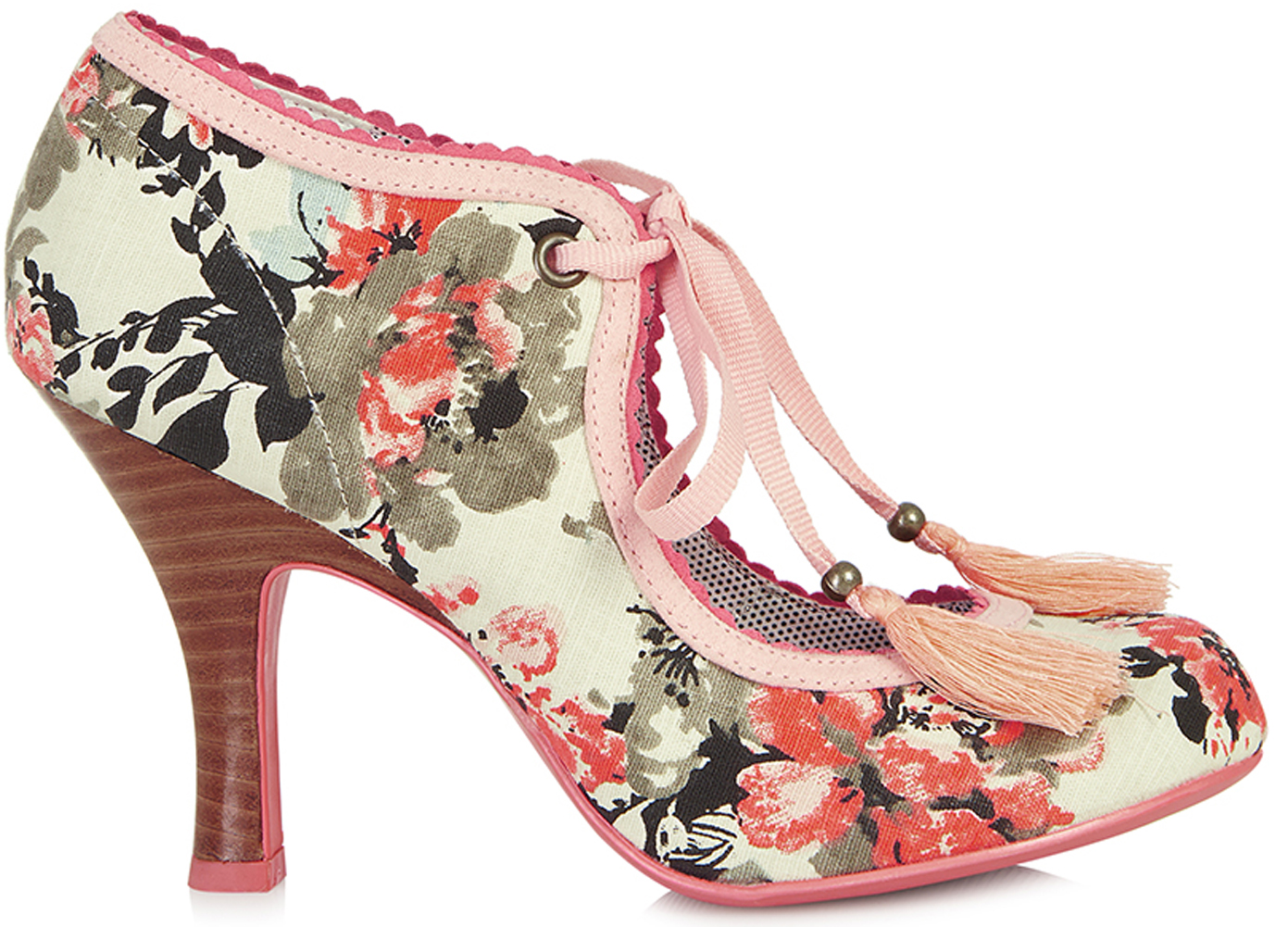 Ruby Shoo WILLOW 50s Vintage Blüten FLOWER Hochfront Pumps Rockabilly