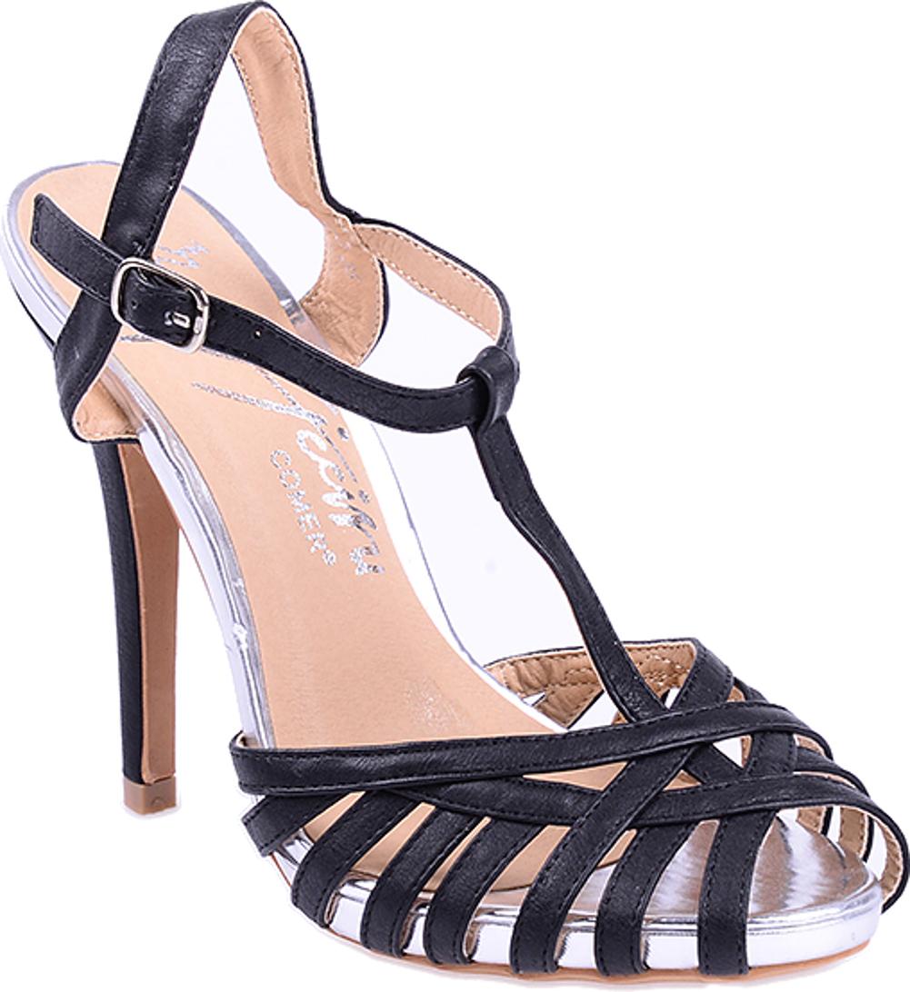 2376e32c32b55f Details  Wunderschöne Retro High Heels mit Riemchen Absatzhöhe des Stiletto  Absatzes hinten ca. 10cm. Mit T-Strap vorne. Verstellbares Riemchen seitlich