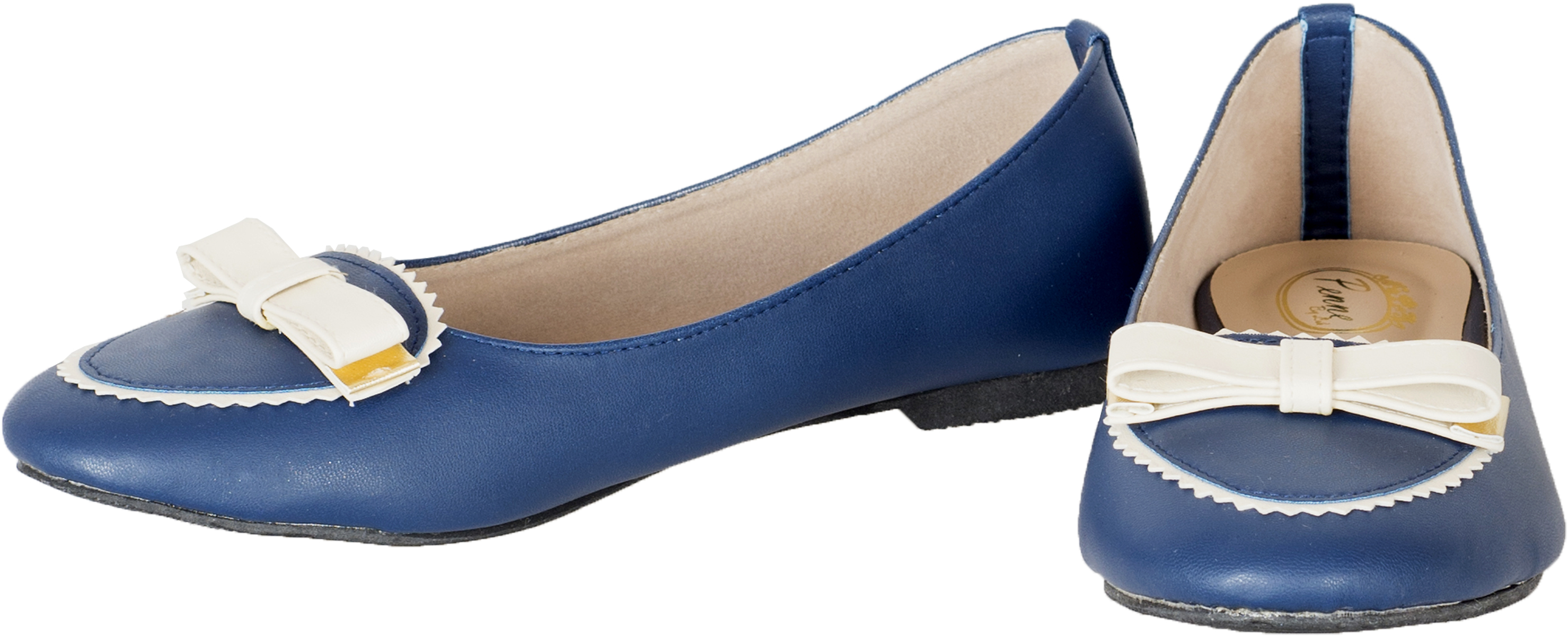 Cute VINTAGE 50s SCHLEIFE Retro BOW Schuhe BALLERINAS Flats Navy Rockabilly