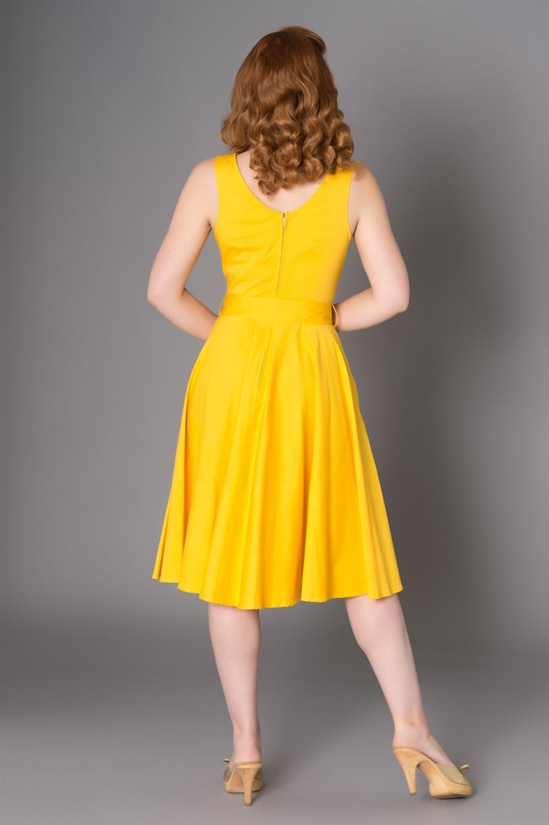 Sheen SAMANTHA Vintage EMBROIDERY FLOWER Träger SWING Dress Kleid Rockabilly