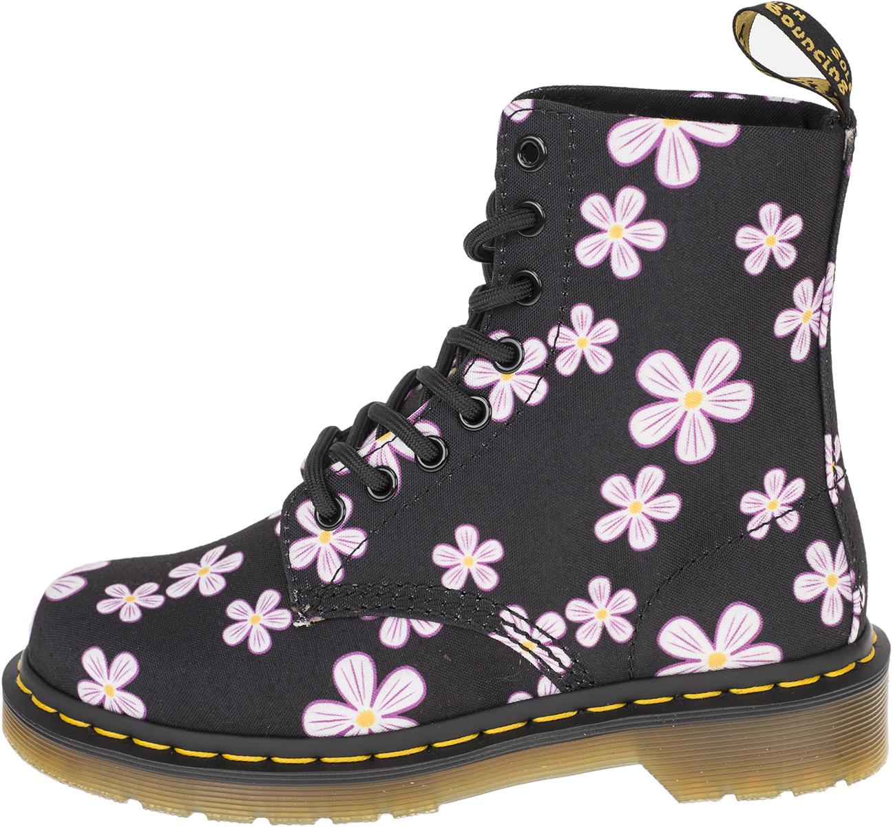 e04bf2ec9ac0d0 Dr. Martens PAGE MEADOW 8-Eye FLOWERS Blumen Boots STIEFEL Schuhe ...